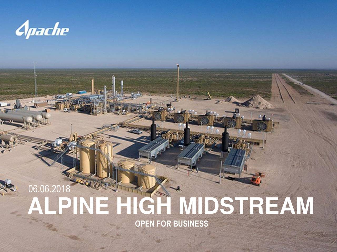 ALPINE HIGH MIDSTREAM OPEN FOR BUSINESS