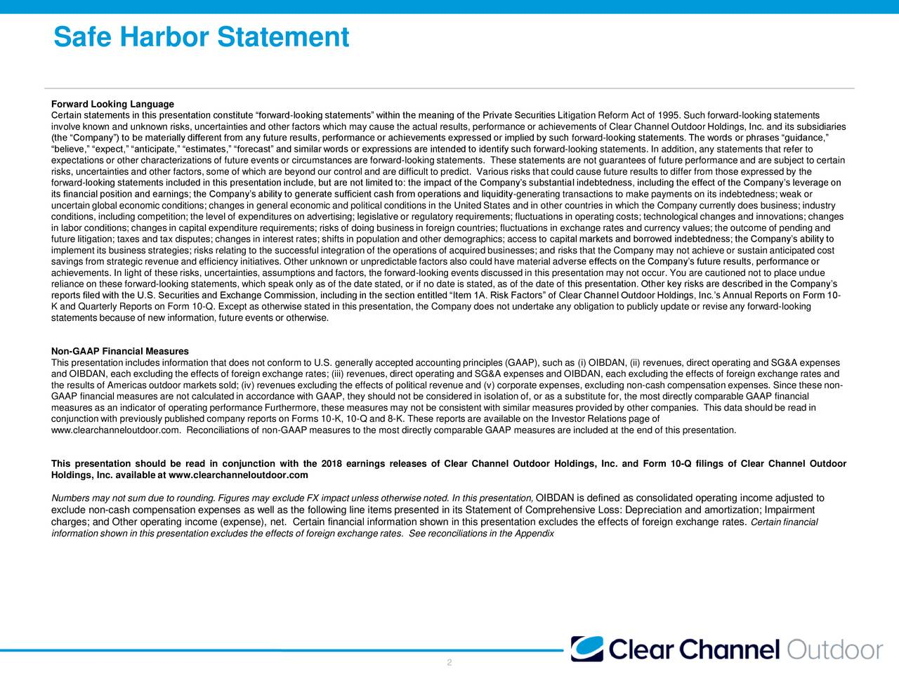 Clear Channel Outdoor Holdings, Inc. 2018 Q3