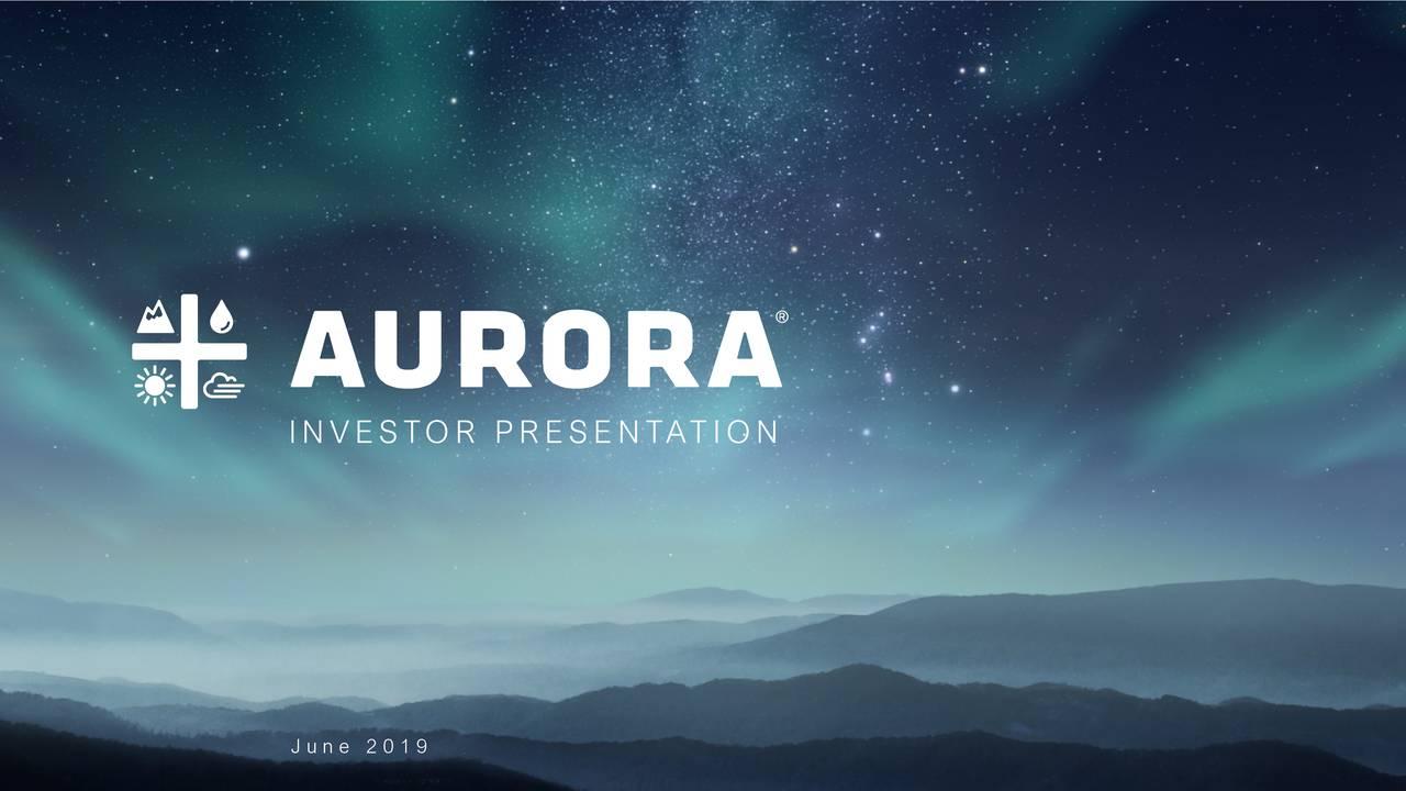 Aurora Cannabis (ACB) Investor Presentation - Slideshow