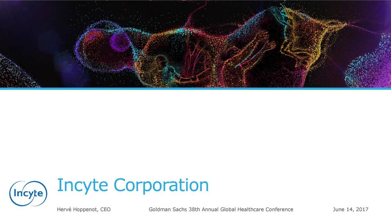 Herv Hoppenot, CEO Goldman Sachs 38th Annual Global Healthcare CoJune 14, 2017