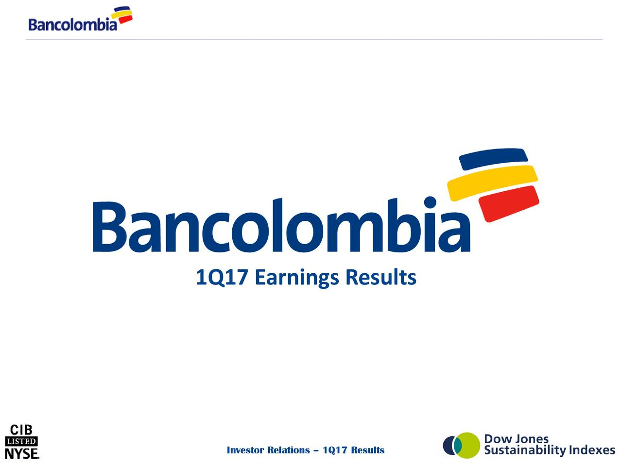 Bancolombia S.A. 2017 Q1 - Results - Earnings Call Slides ...