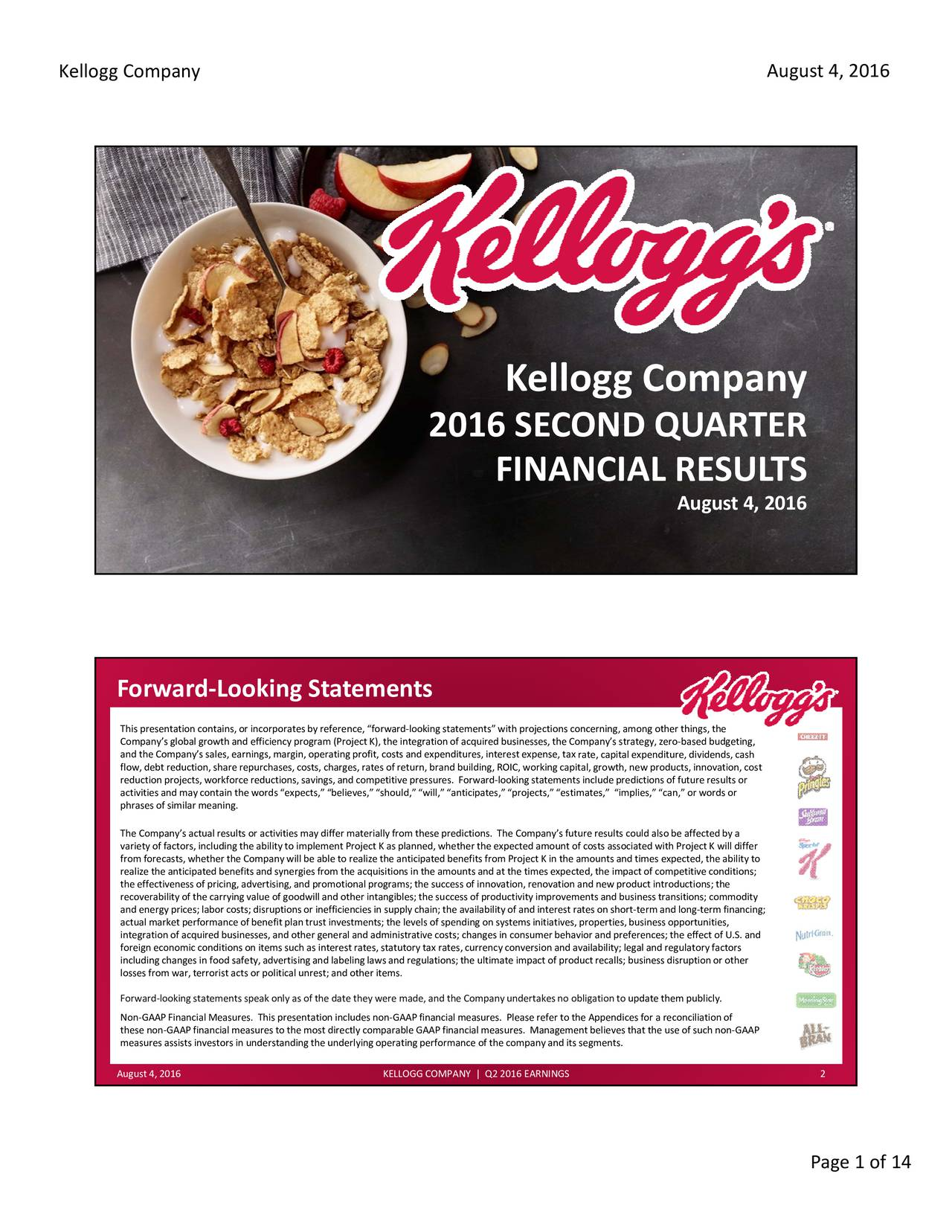 kellogg company operational planning essay Kelloggs company has been committed to working towards their operational energy from dmba 610 at md university college.