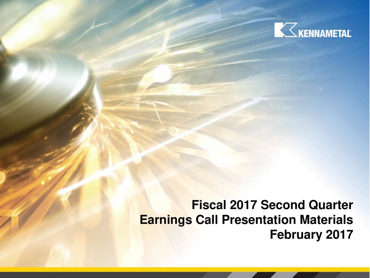 Earnings Call Presentation Materials February 2017