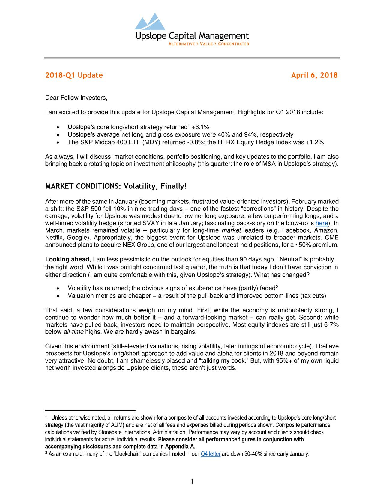 Upslope Capital Q  Investor Letter  Burford Capital Ltd