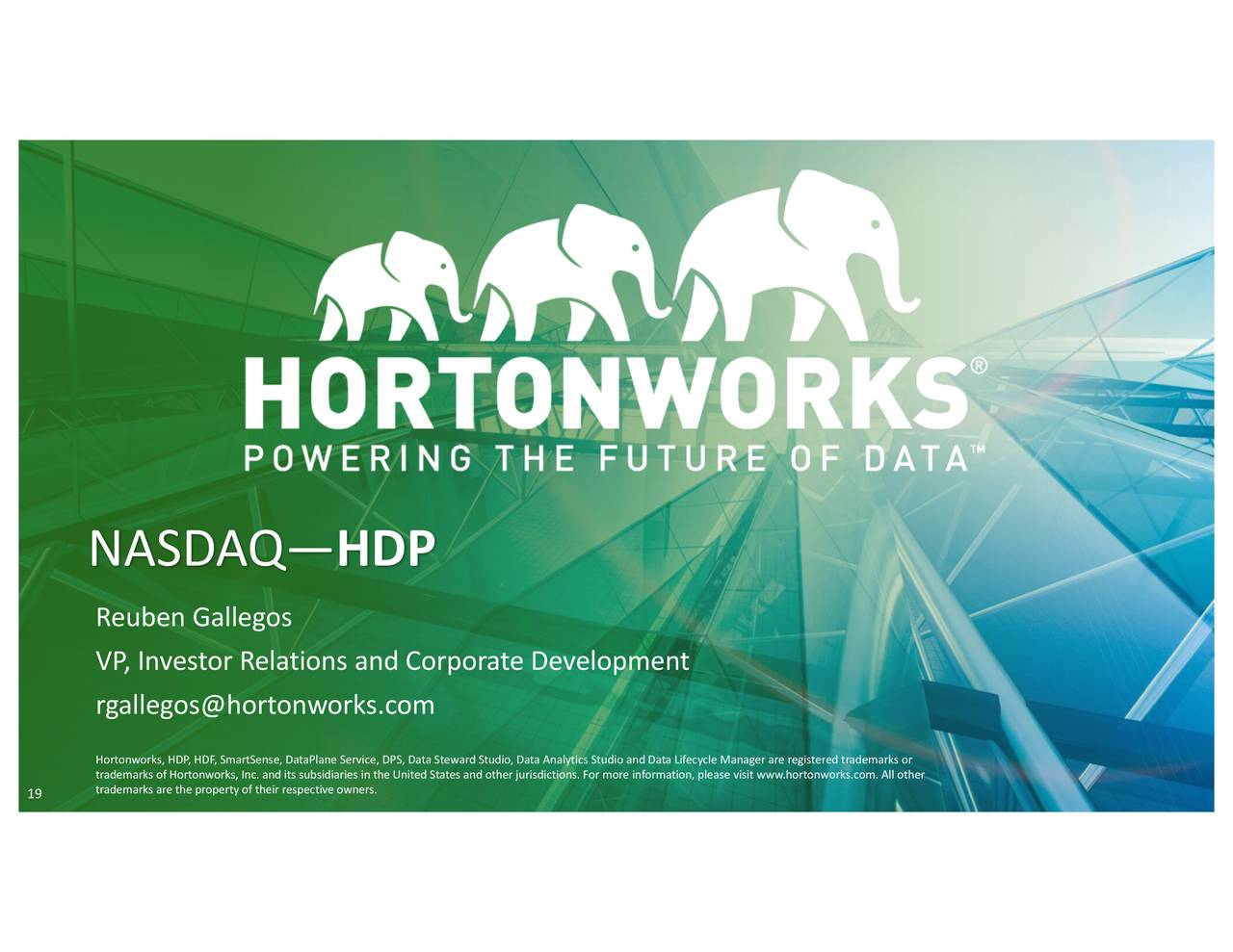 Hortonworks 2018 Q2 - Results - Earnings Call Slides